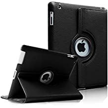 Fintie iPad 4 / 3 / 2 Funda - Giratoria 360 Grados Smart Case Funda Carcasa con Función y Auto-Sueño / Estela para Apple iPad 4 / iPad 3 / iPad 2, Negro
