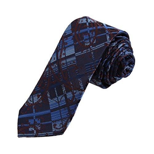 DAE7B31B Blau Braun Gemusterte Microfiber D¨¹nne Krawatte Classic F¨¹r Designer D¨¹nne Krawatte Von Dan Smith