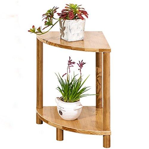 Ventilateur en forme de fleur - Balcon en forme de fleur Multi-étages Salon Pots à fleurs Bambou simple en bambou (taille : 30*40cm)