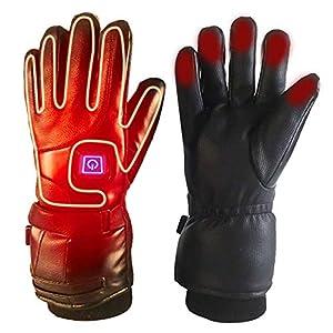 Massage-AED Elektrische beheizte Handschuhe Winter warme Handschuhe Männer und Frauen wiederaufladbare elektrische batteriebetriebene Reiten Wandern Ski Handschuhe