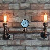 Crayom Vintage Industrial Steampunk Lampade da parete Lampada da parete Retro Light Old Factory Sconce Larghezza: 54 cm