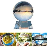 Transparente K9 Bola de Cristal con Soporte 80 mm / 3.15 Pulgadas Claro Decoración de Arte