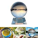 K9 Boule de Cristal avec Support 80 mm / 3,15 Pouces Décor d'art Clair K9 Cristal Prop pour la Photographie,Sans Bulle,pour Feng Shui / Divination ou Décoration de Mariage / Maison / Bureau