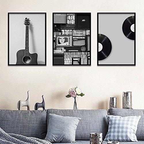 bdrsjdsb Nordic Gitarre Musik Poster Leinwand Malerei Wandkunst Wohnzimmer Wohnkultur Geschenk 1# 20 * 25 cm (Musik-kunst-dekor)