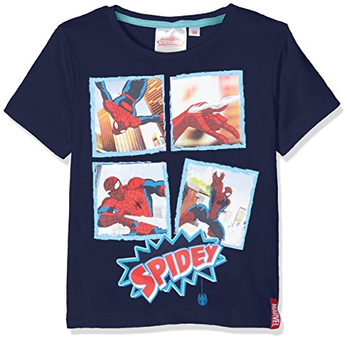 Image of Marvel Boy's Spider Man T-Shirt, Blue (Navy), 6 Years