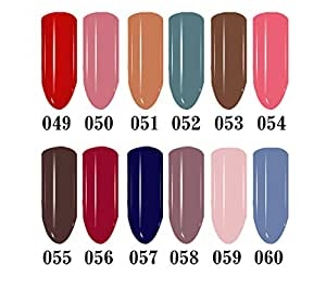 Generic Pure Color67 : 4pcs 6ml Long Lasting Soak Off Nail Polish Pure Color Newest UV Gel Gel Nail Polish 24 colors for choice