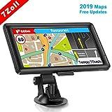 GPS Navi Navigation für Auto, LKW PKW Touchscreen 7 Zoll 8G 256M Sprachführung Blitzerwarnung mit POI Lebenslang Kostenloses Kartenupdate Navigationsgerät Fahrspurassistent EU UK 48 Karten 2019