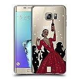 Head Case Designs Schwarze Frau In Einem Roten Kleid Wein Fest Soft Gel Hülle für Samsung Galaxy S6 Edge+ / Plus