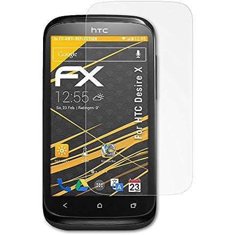 atFoliX FX-Antireflex - Protectores de pantalla para HTC Desire X (3 unidades)