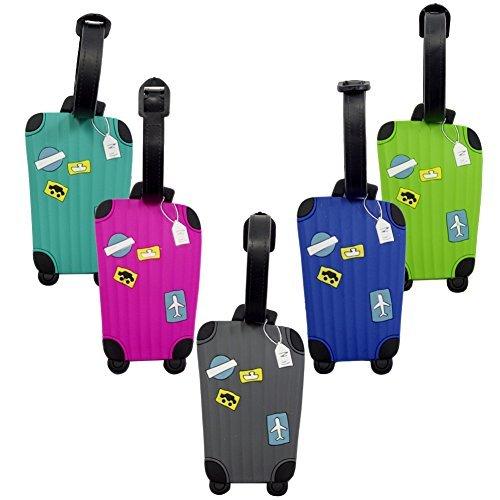 Kofferanhänger - Lalonovo Kofferanhänger - Visitenkartenhalter - Travel ID Bag Tag (5er-Pack)