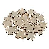 Sharplace 50pcs Leere Holzpuzzle Lernspielzeug für Kinder Jungen Mädchen