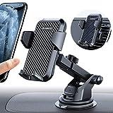 VANMASS Handyhalter fürs Auto Handyhalterung 3 in 1 Kfz Handy Halterung mit Lüftungs & Saugnapfshalter Gummipad Smartphone Handy Halter für iPhone Samsung Galaxy Huawei Mate LG (Aktualisierte Version)