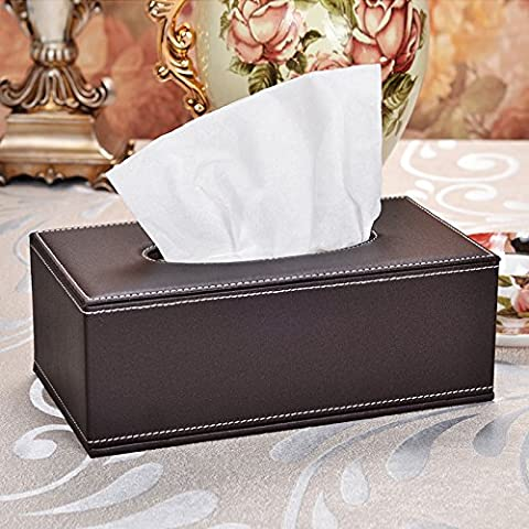 pingofm PU-Leder Box Leder Pull Tablett Automarke Kreativität Tissue Box, large, Brown kraft liner Matte Canvas