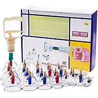 Preisvergleich für Gxni Schröpfen Therapie-Sets, 24 Tassen Sets Vakuum-Magnete Schröpfen Therapiepumpe mit 12 Magnetkopf - Cellulite-Massage-Therapie...