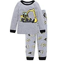 Children Kids Dinosaur Car Boys Pajamas Sets Baby Pjs Sleepwear T Shirt & Shorts Pants Pyjamas Sets Nightwear Outfit