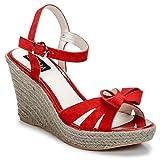 C.Petula Womens Summer Rot Sandalen/Sandaletten 40