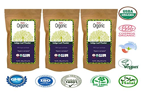 Radico Organic Indigo Leaf Powder(3 In 1) Hair Color  available at amazon for Rs.750