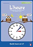 mindmemo Lernfolder- L'HEURE - Quelle heure est-il? - Die Uhrzeit auf Französisch lernen - Zusammenfassung: genial-einfache Lernhilfe - DInA2 PremiumEdition