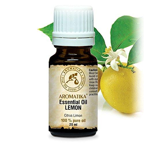Olio Essenziale di Limone 20 ml - Olio di Agrumi - Italia - Naturale e Puro 100% - Buon Sonno - Buonumore - Contro la Forfora - Aromaterapia - Massaggi - Diffusore - Aroma Lamps - Lemon Essential Oil