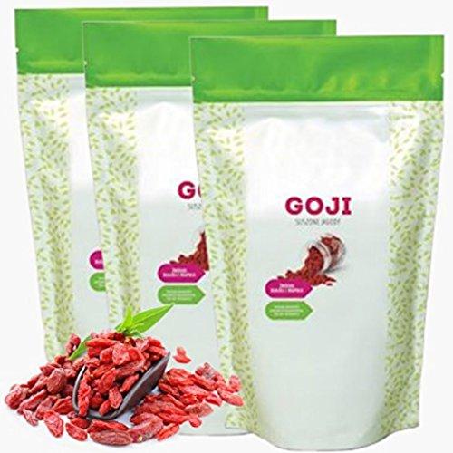 1Kg - 3Kg getrocknete Goji-Beeren • Vegan • OHNE ZUSÄTZE • Premium Qualität • Superfood • Ideal • Natürlich reich an Vitaminen + Mineralien und Aminosäuren (1)