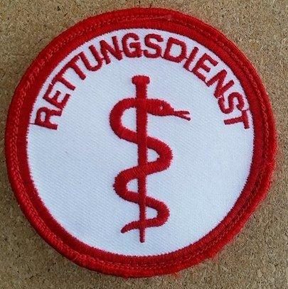 DRK Rettungsdienst Emblem - Patch - DRK Funktionsabzeichen - MIH Medical