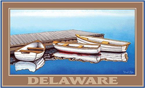 Northwest Art Mall dl-3331SF Delaware Sommer Nebel 27,9x 43,2cm Print von Künstler David Linton