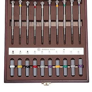 ChaRLes 10Pcs Sortierte Schraubenzieher-Satz-Uhr-Reparatur-Schraubenzieher-Werkzeuge Mit Gewicht Fass Für Uhrmacher