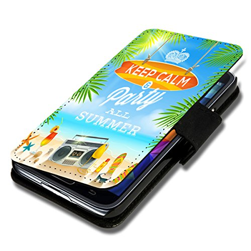 Book Style Flip Handy Tasche Case Schutz Hülle Schale Motiv Etui für Apple iPhone 6 - 4,7 Zoll - A40 Design9 Design 6