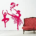 Adesivi Creativi Wall Sticker Ballerine con farfalle Sticker adhesive for walls, wall decoration Dimensions 122 X 160 cm