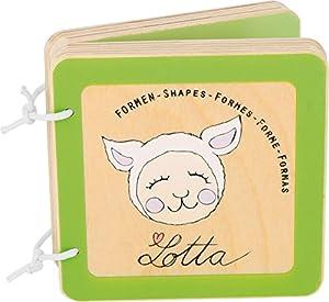 Small Foot Pequeño pie bebé 10861 Lotta Libro de Madera para bebé