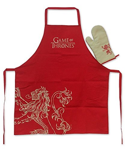 SD Toys sdthbo89707 - Apron and Oven Mitt, Red