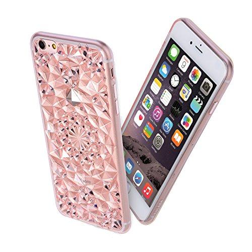 Forepin® Bling Diamant Muster Hülle Case Weicher TPU Bumper Cover Schutzhülle für iPhone 6 plus 6S plus 5.5 Zoll (Cover Bling Iphone6 Plus)