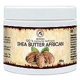Manteca de Karite Pura 500g - Refinada - African - Ghana - Manteca Karité 100% Natural Mejor para el Pelo - Piel - Manos - Labio - Cara - Cuidado del Cuerpo - Shea Butter