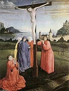 Huile sur toile - 18 x 24 inches / 46 x 61 CM - Konrad Witz - Christ sur la Croix (2)