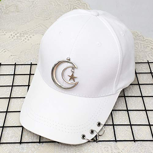 zlhcich Hut weiblichen Pin Hoop Baseball Cap männlichen fünfzackigen Stern Anhänger Kappe Freizeit Sonnenschirm Hut
