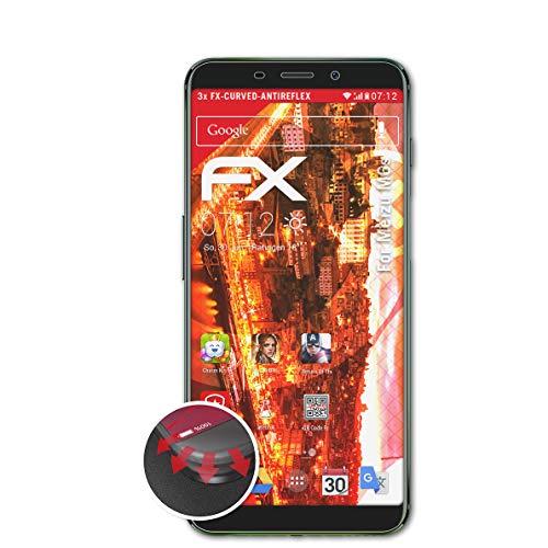 atFolix Schutzfolie passend für Meizu M6s Folie, entspiegelnde und Flexible FX Displayschutzfolie (3X)