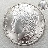 FKaiYin Antike Great Liberty Morgan Dollars 1886 One-Dollar Old Replica Münzen - Lucky Unzirulated Gedenkmünze - Discover History of US Coins Future Experience -