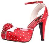 Pinup Couture - zapatos de tacón mujer, color rojo, talla 40 (7 UK)