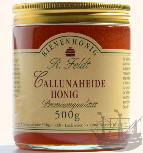 Callunaheide Honig, die beste Heide, rotbraun, kräftiges Aroma, kaltgeschleudert, 500g