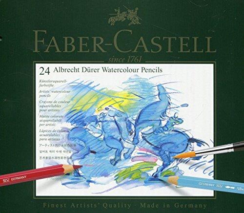 Faber-Castell 117524 - Aquarellstifte ABLRECHT DÜRER, 24er Metalletui