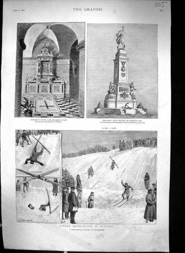 1888 Houe de Plymouth de Cathdrale de Bartle Frere Paul de Monument de la Finlande d'Amusement d'Hiver