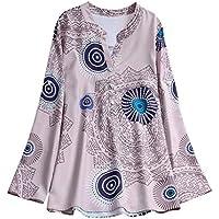 showsing-women clothes - Camisas - Manga Larga - para Mujer, Mujer, Color Caqui, tamaño XXX-Large
