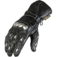 e7ac5eee3d897 New Texpeed Black & Chrome Protective Motorbike/Motorcycle Gloves Sizes ...