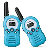 Caroger 2 Packs 8 Channel Walkie Talkies 2-Way Radio PMR446MHZ License-Free Up to 3300 Meters/2 Miles Range Handheld Interphone Blue
