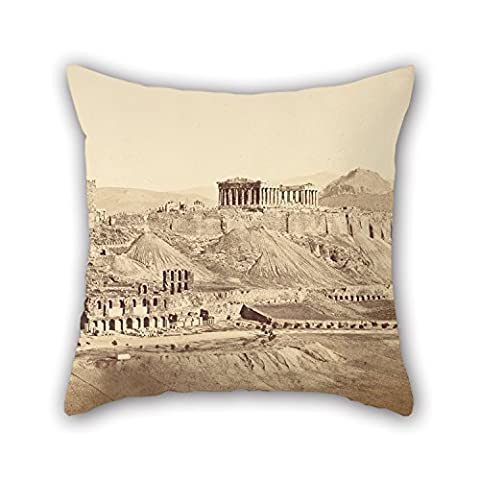 Slimmingpiggy Pillow Covers Of Oil Painting Dimitrios Constantin (Greek, Active 1858 - 1860s) - The Acropolis From The Southwest, Athens,for Kids Room,car,wife,kids Room,family,dance Room 16 X 16