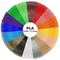 3D Stift Nachfüller 16 Farben 12,2 M, 3D Stifte Filament 1,75mm, 3D Stift Farben Set für ODRVM, Tipeye, Uvistare, Sunlu, PLUSINNO, QPAU, Lovebay, Nexgadget und dikale 3D Druckstift