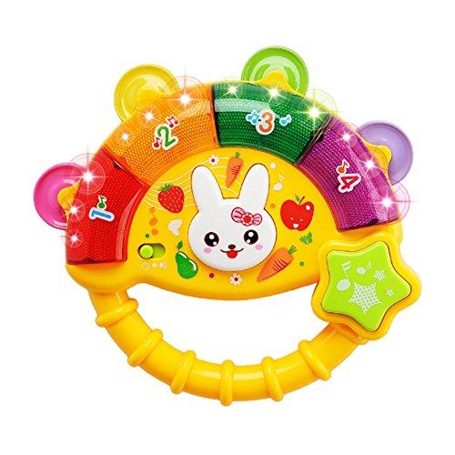 Balai Baby Rassel Spielzeug Elektronische Rassel mit Licht- und Geräuscheffekten Rassel Spieluhr Kinder pädagogisches Spielzeug