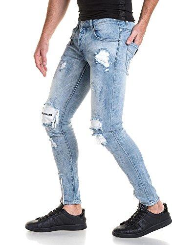 Project X - Jeans blau zerstören Claur Männer Blau