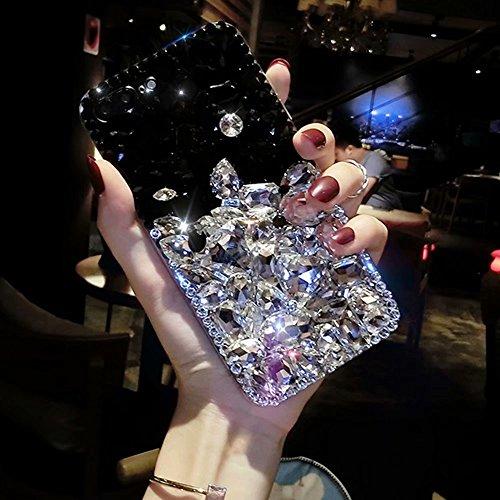 Für LG Stylo 4Fall, qkke handgefertigt Kristall Strass Soft Gummi Bumper Rot Full Diamond Bling Glitzer Schutzhülle für LG Stylo 4, a1 Full Diamond Bling