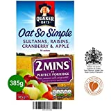 Quaker Oat So Simple Apple Sultana Raisin & Cranberry 385g